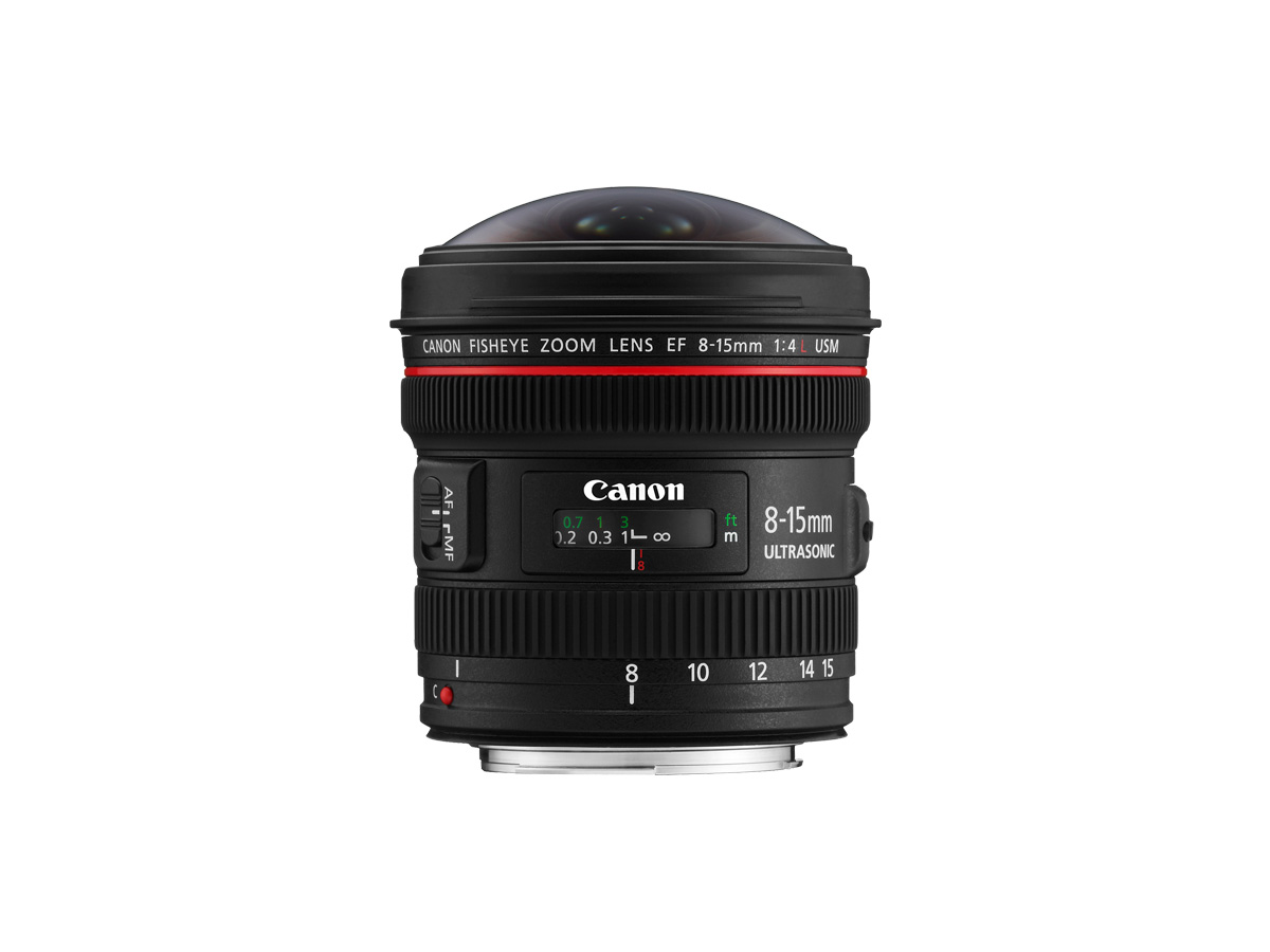 Side view of Canon EF 8-15mm f/4L Fisheye USM lens