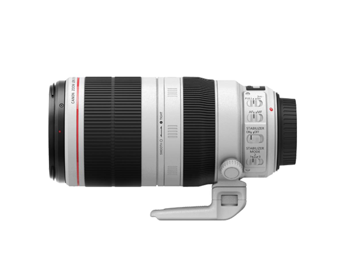 Side view of EF 100-400mm f/4.5-5.6L IS USM lens