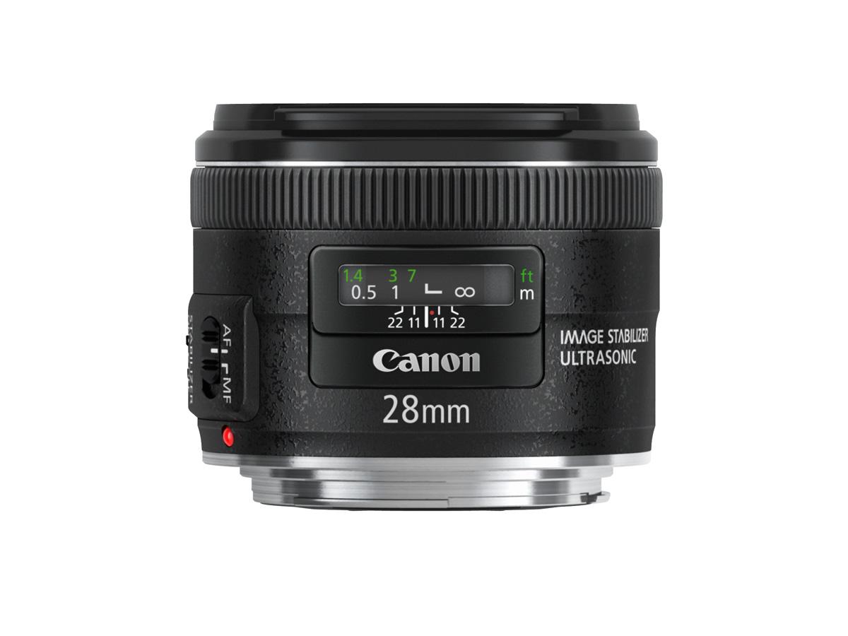 Side view of EF 28mm f/2.8 IS USM Lens