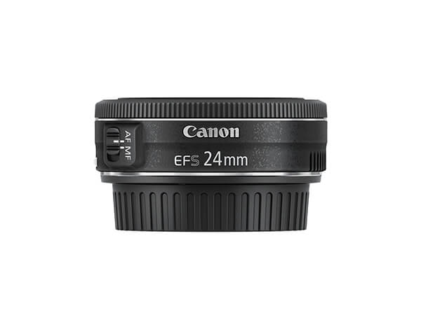 Side view of Canon EFS24mm f2.8 STM Lens