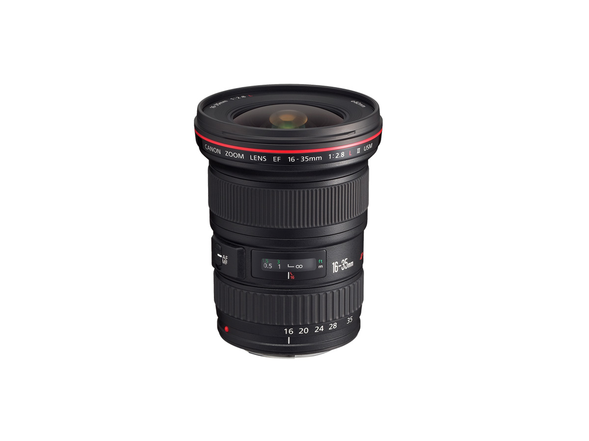 Side view of the Canon EF 16-35mm f/2.8L II USM lens