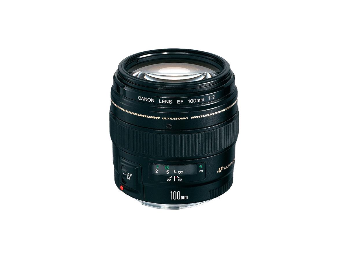 Side view of EF 100mm f/2 USM lens