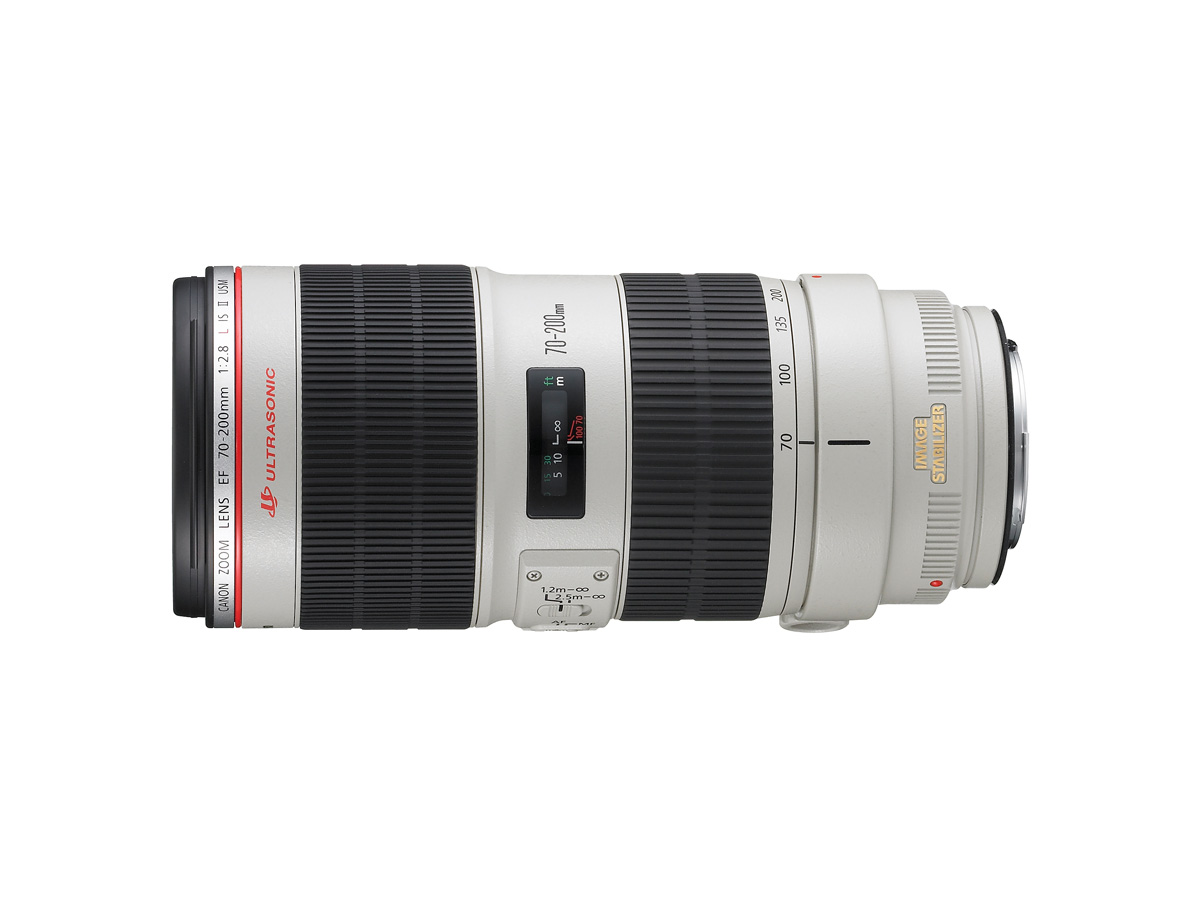 Side view of Canon EF 70-200mm f/2.8L IS II USM lens