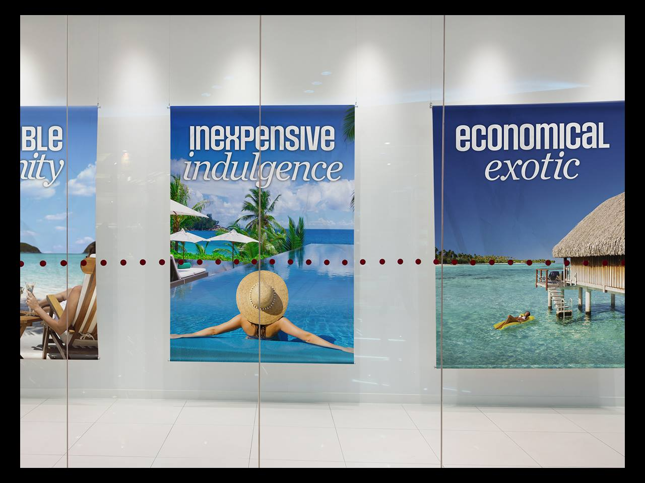 Work sears travel instore poster