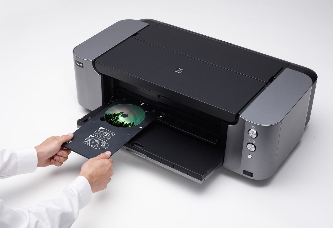 pixma pro 100 printing to a CD