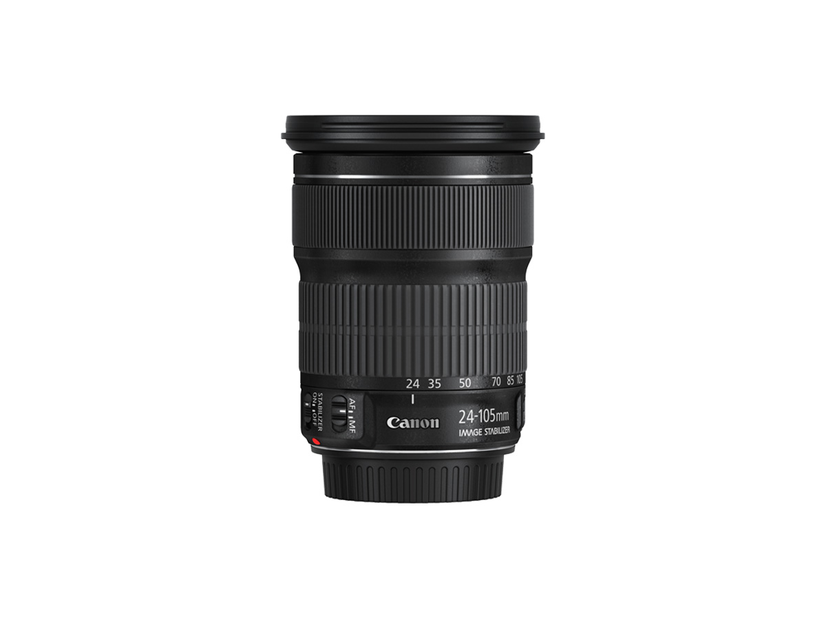 Side view of Canon EF 24-105mm f/3.5-5.6 IS STM lens