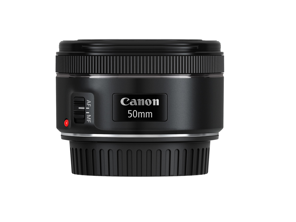 Side view of Canon EF 50mm f/1.8 STM lens