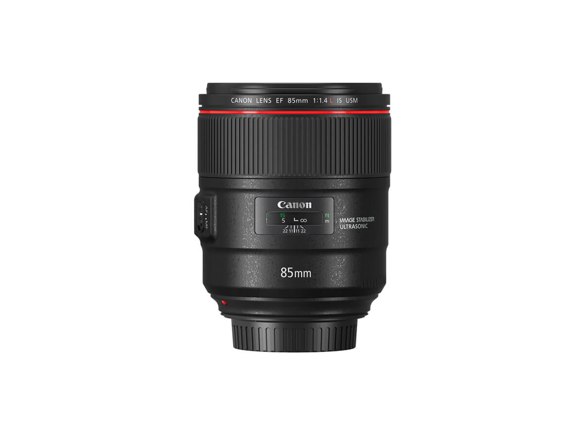 Side view of Canon EF-S 15-85mm f/3.5-5.6 IS USM lens