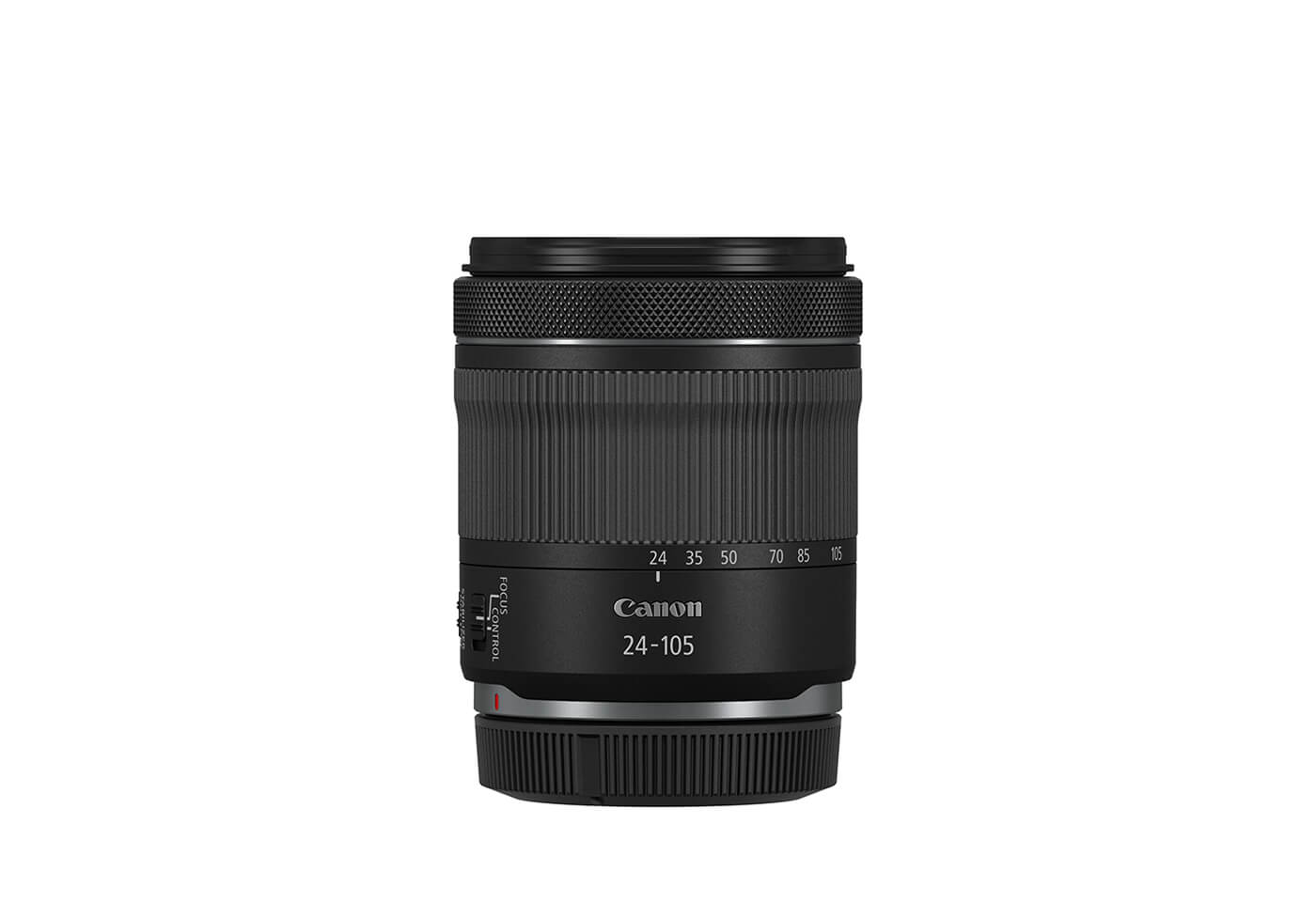 RF 24-105mm f/4-7.1 IS STM side with cap