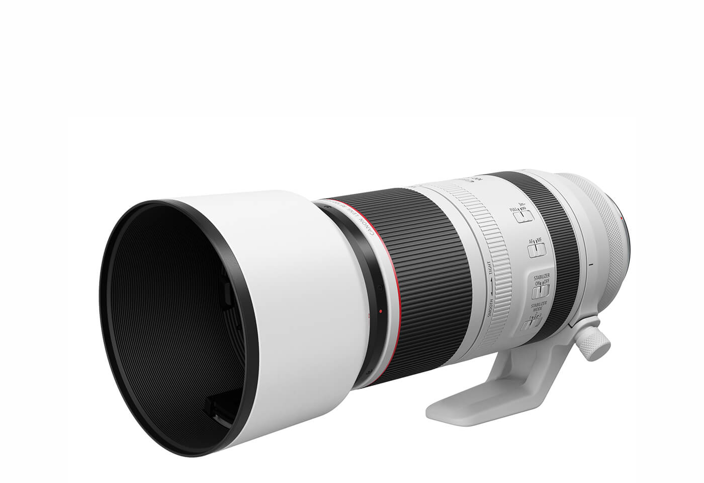 Profile image of RF 100-500mm f/4.5-7.1 L IS USM telephoto lens with hood