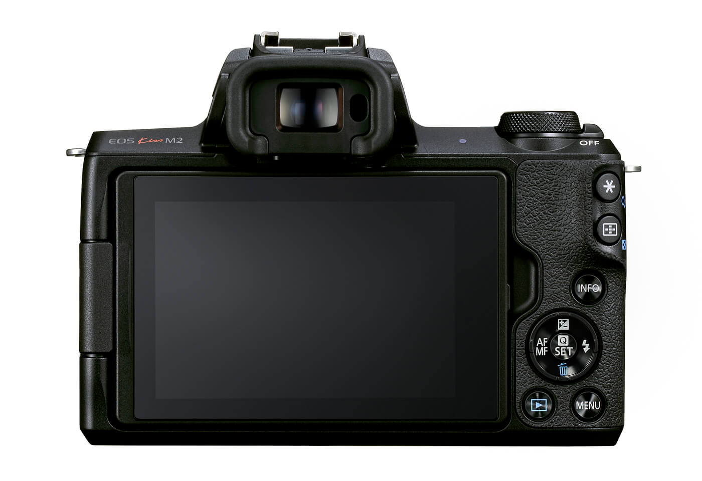 Back profile image of the EOS M50 Mark II mirrorless camera