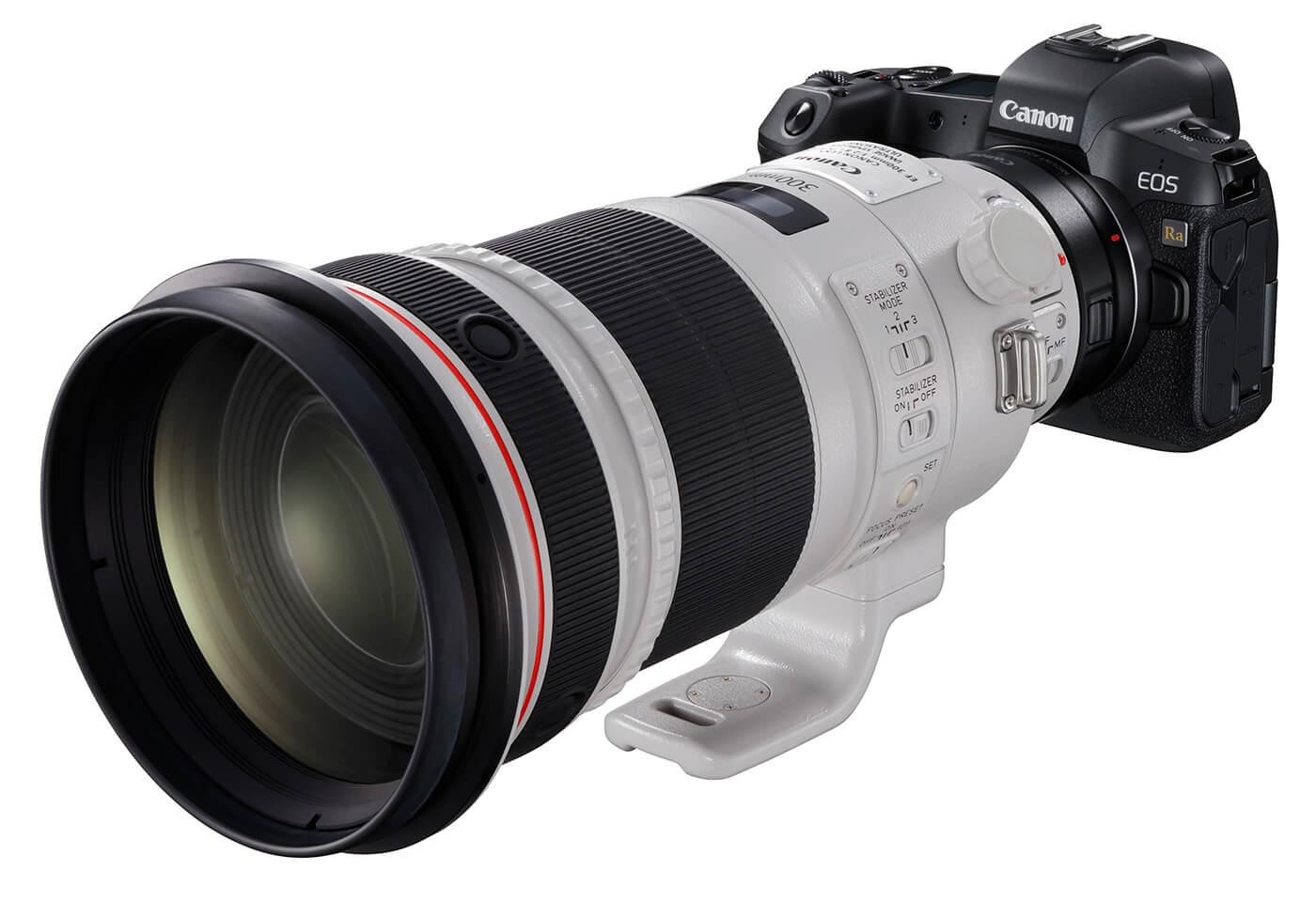 Product image of EOS Ra with telephoto lens