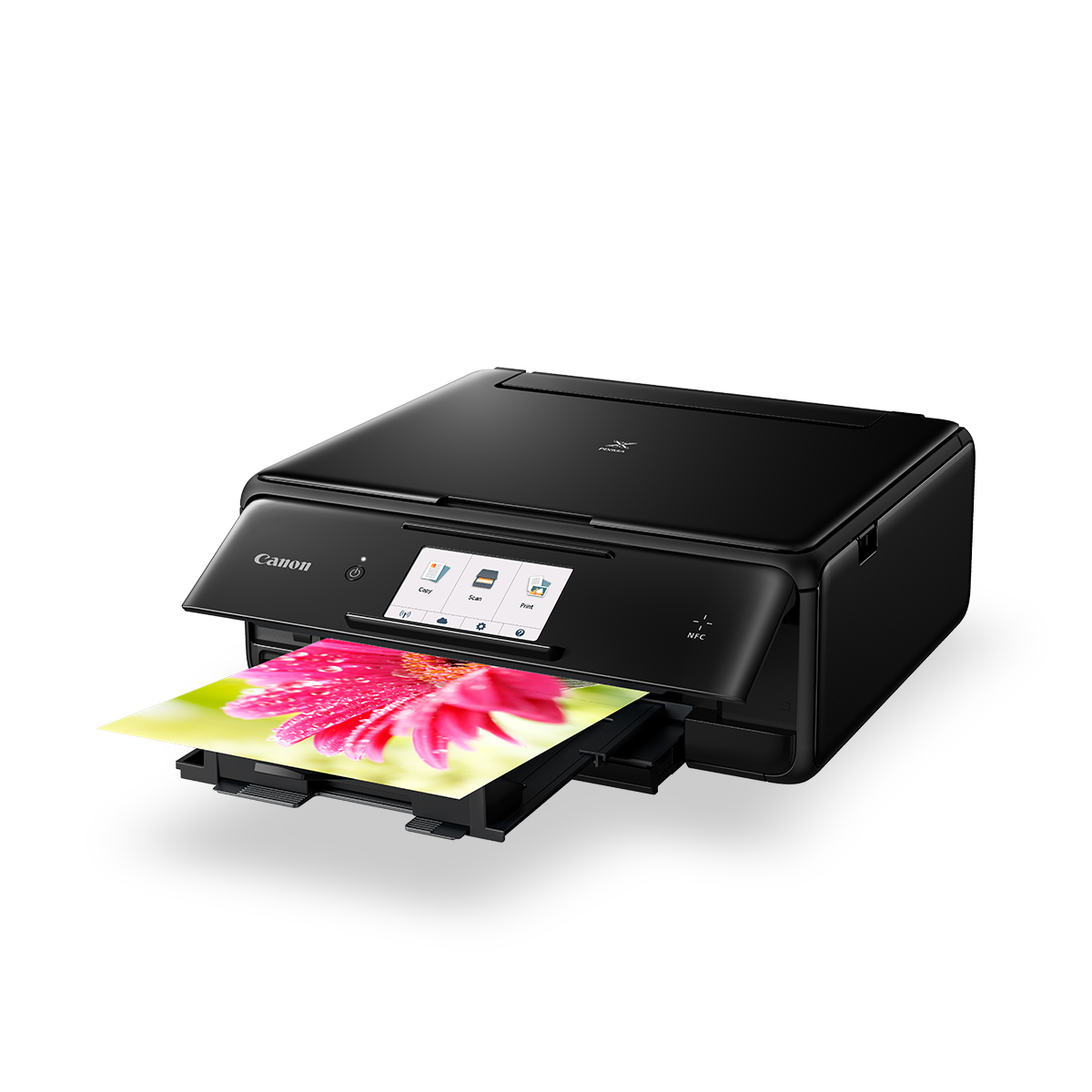 PIXMA TS8060 black front angled with shadow