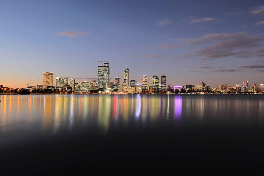 Image of city nightscapes at South Perth by Steve Huddy