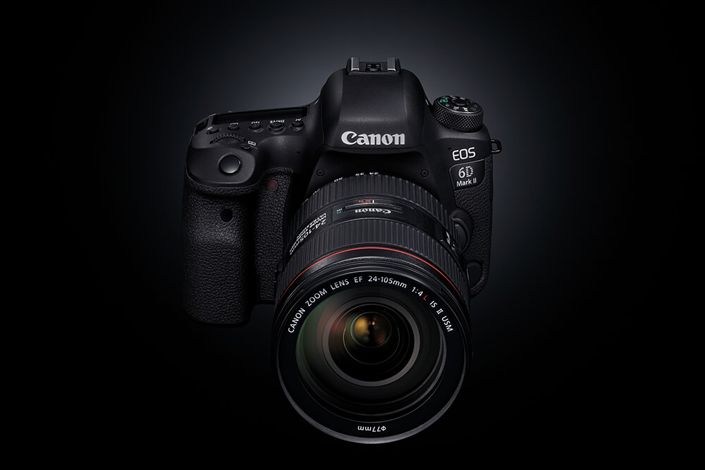 Product shot of Canon EOS 6D Mark II and 24-105mm f4 L IS II lens