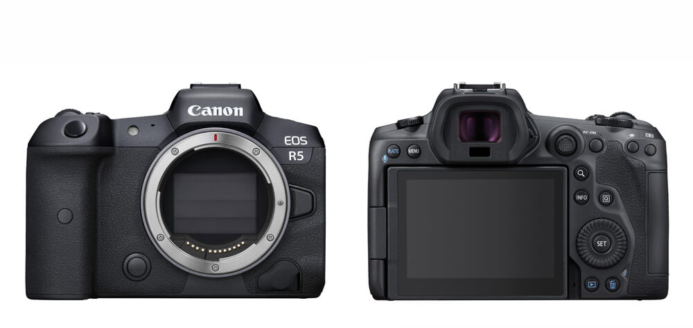 Front and Back image of EOS R5