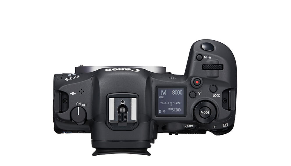 Top view image of EOS R5 body