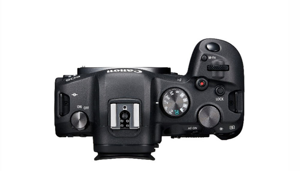 Top view image of EOS R6 body