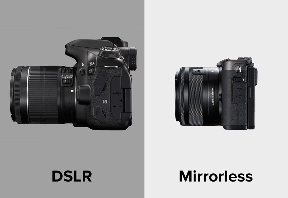 side by side comparison between the EOS 80D and EOS M5