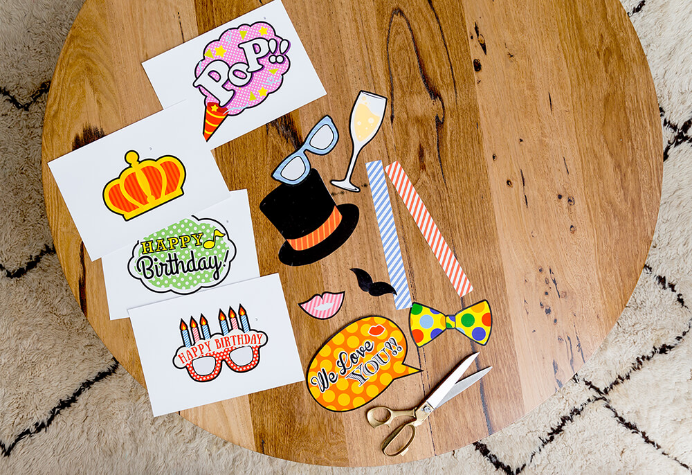 diy party photo booth props