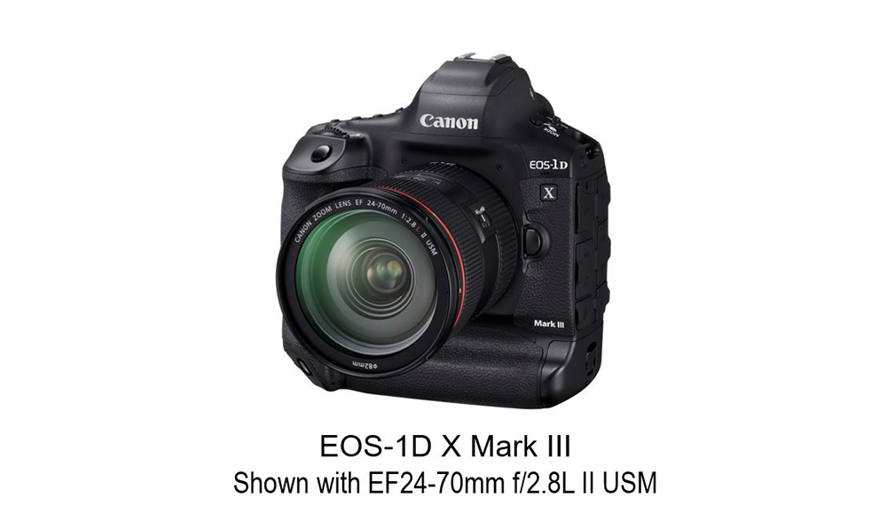Product image of EOS 1D X Mark III with EF 24-70mm f/2.8L II USM lens