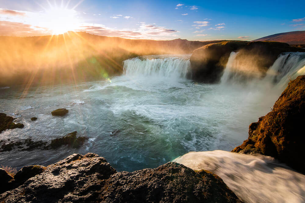 Goðafoss waterfall. Shot by Steph Vella