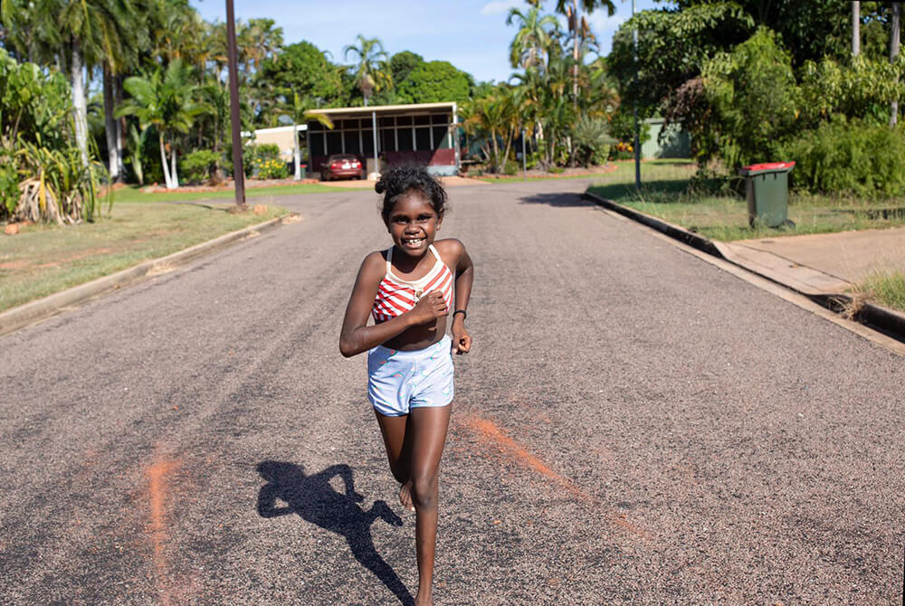 Image of a young Aboriginal girl.