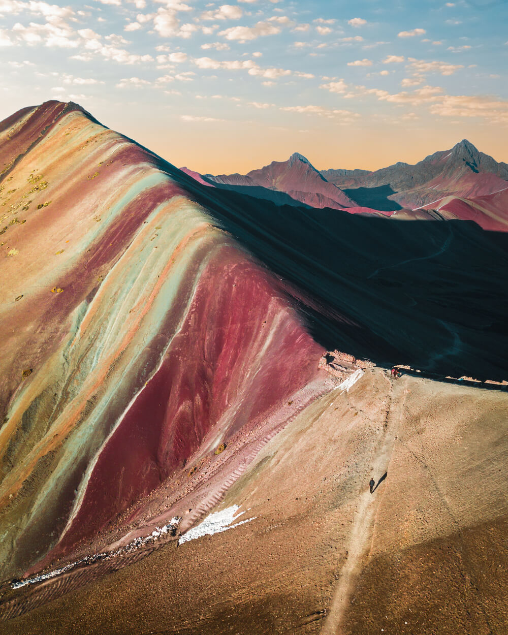 image of Vinicunca or Rainbow Mountain in Peru. Image by Jordan Hammond