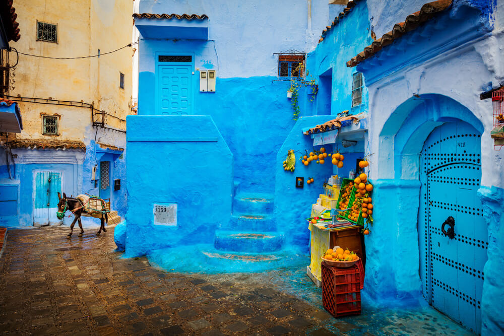 Photo of Chefchaouen, Morocco. Image by Brook Rushton