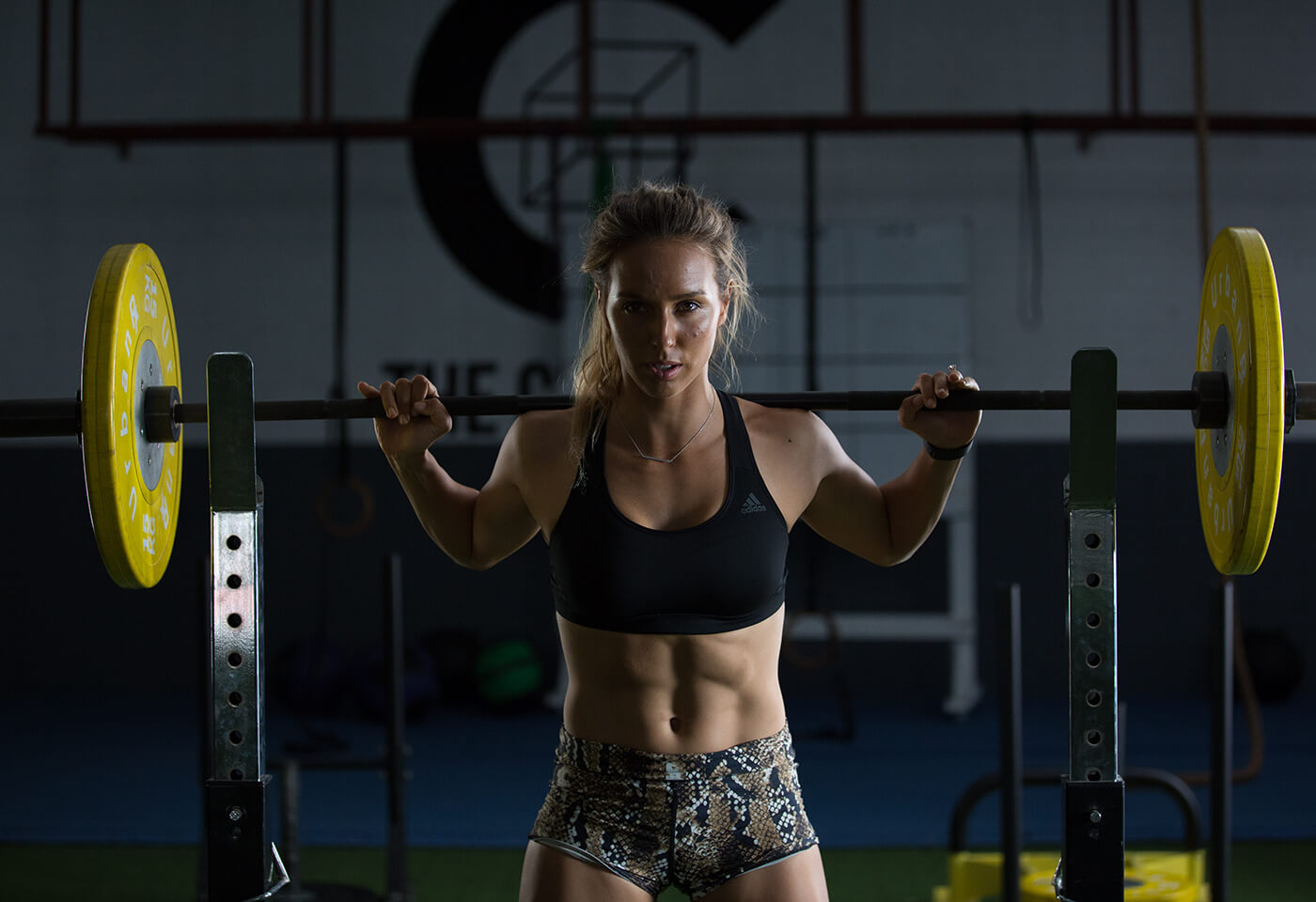 Image of Sally Fitzgibbons at the gym