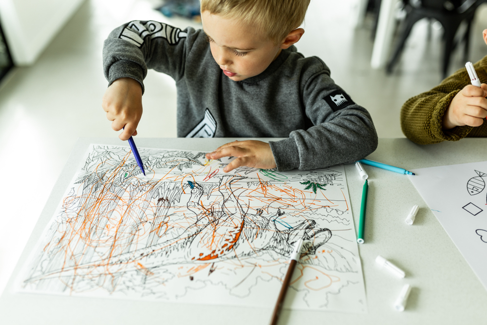 Toddler drawing