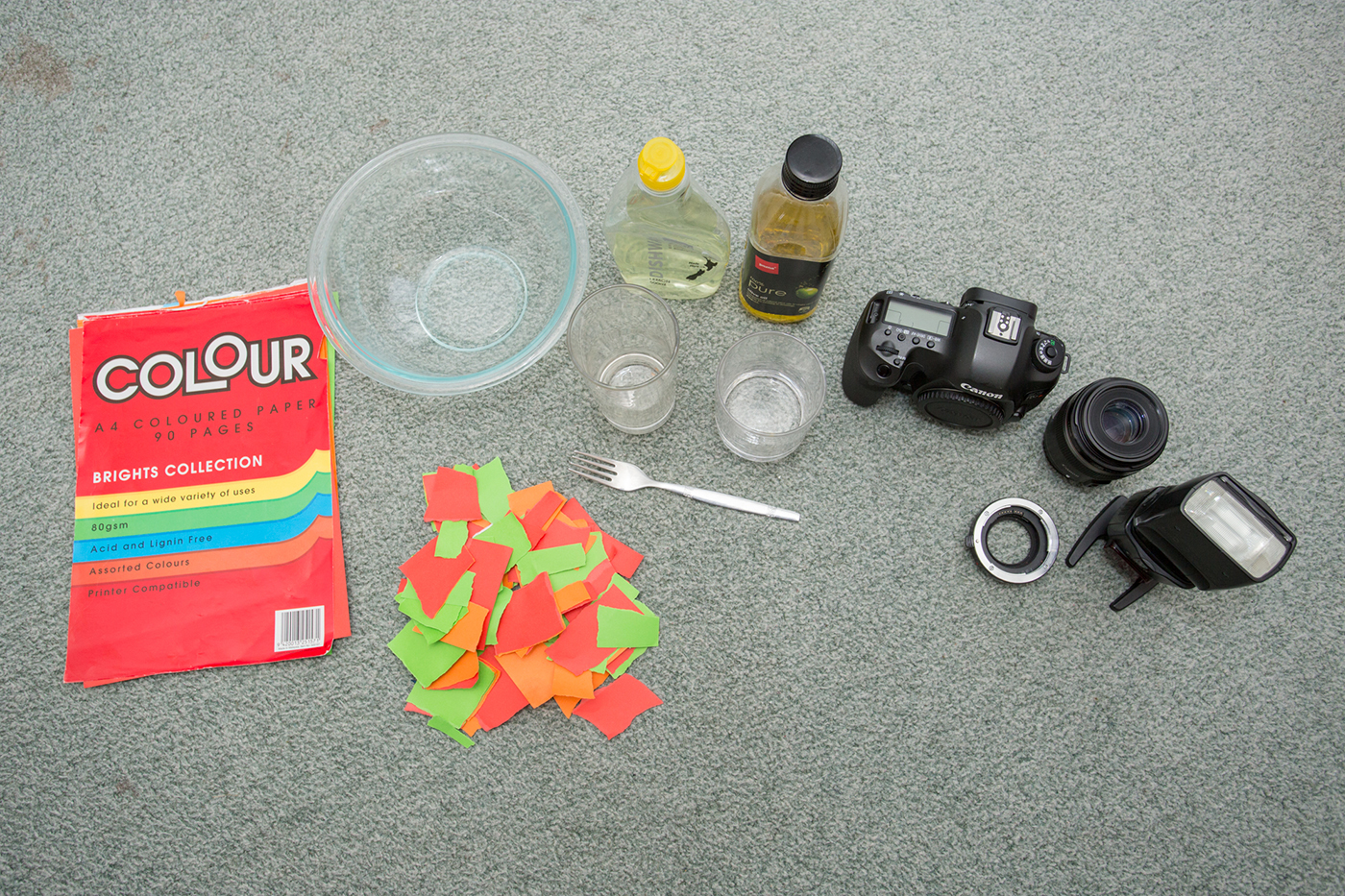 Canon equipment for bubble photography