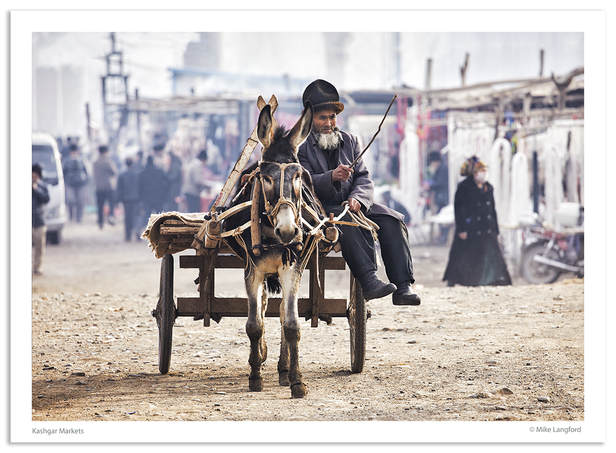 Kashgar Market photographed by Mike Langford