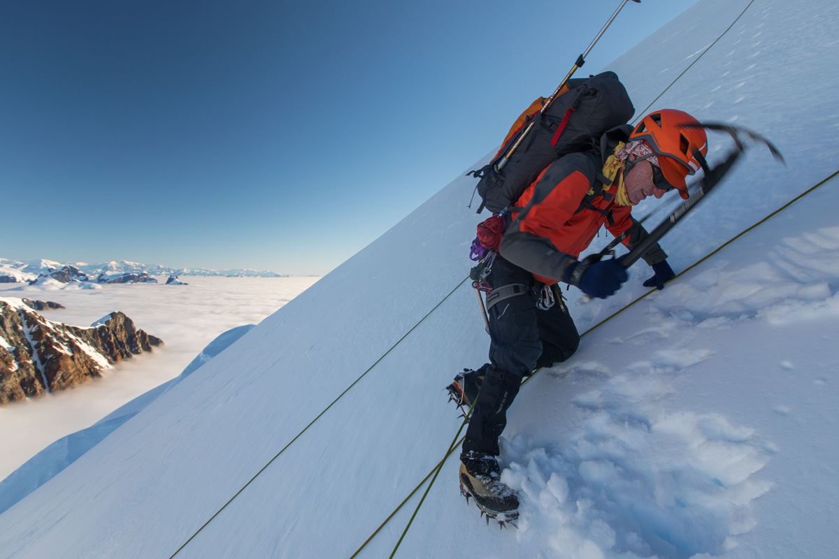 William Pike Climbing mountains in Antartica
